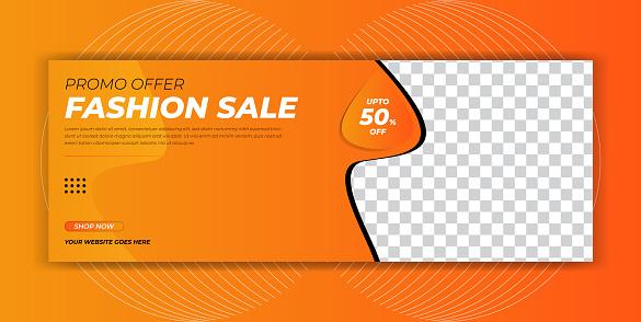 Fashion lifestyle sale offer facebook cover page timeline header social media post poster online web banner template design
