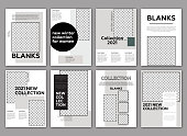 istock Fashion lookbook template. Poster, flyer,  brochure geometric shapes layout. 1290858470