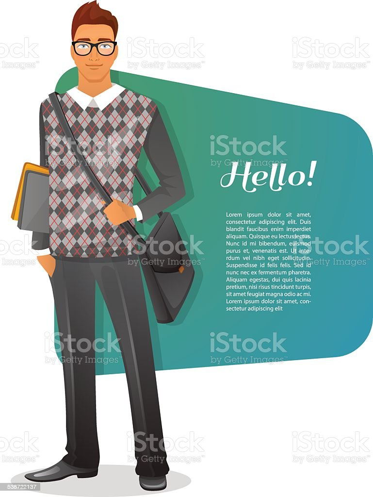 Fashion man character image vector art illustration