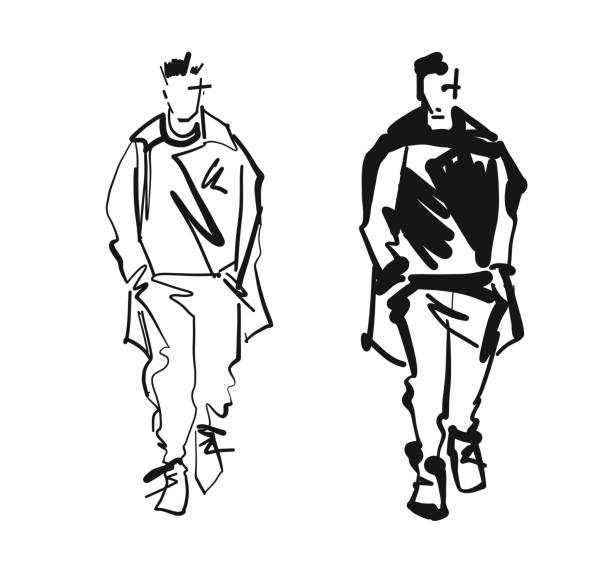 Mannequin Suit Silhouette Illustrations, Royalty-Free