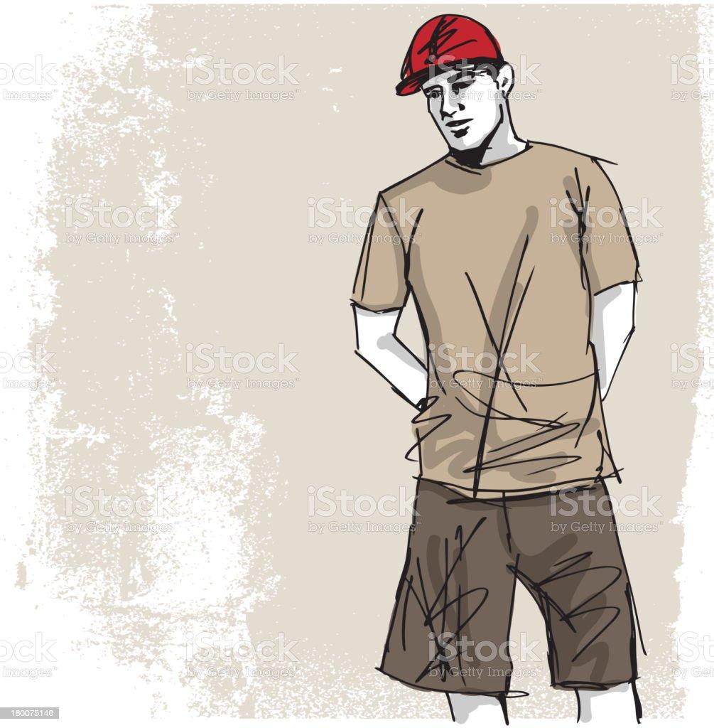 Fashion man vector art illustration