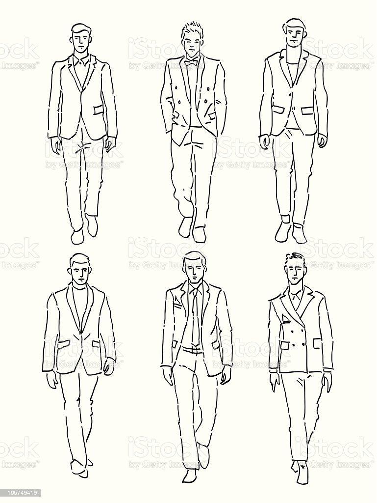 ファッション男性 ベクターアートイラスト