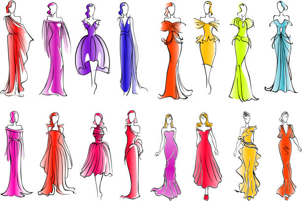 Royalty Free Prom Dress Clip Art, Vector Images ...