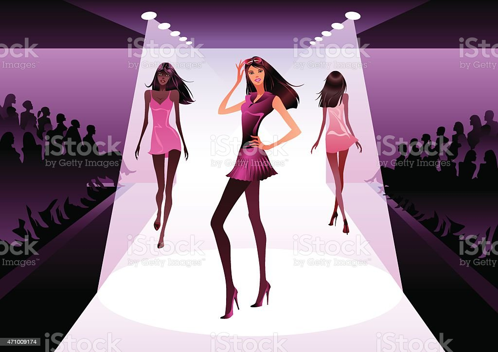 Fashion models on review vector art illustration
