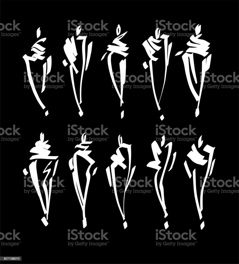 Fashion Models In Casual Clothing Stock Vector