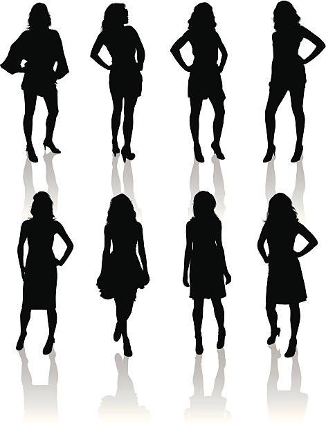 Moda modele – artystyczna grafika wektorowa
