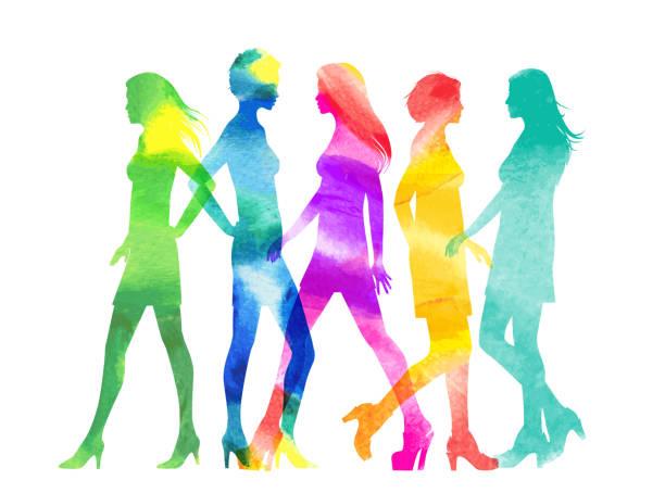 mode modelle - couture stock-grafiken, -clipart, -cartoons und -symbole