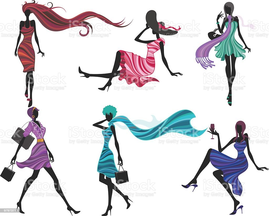 fashion models royalty-free fashion models stock vector art & more images of abstract