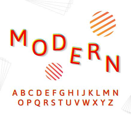 Fashion modern alphabet