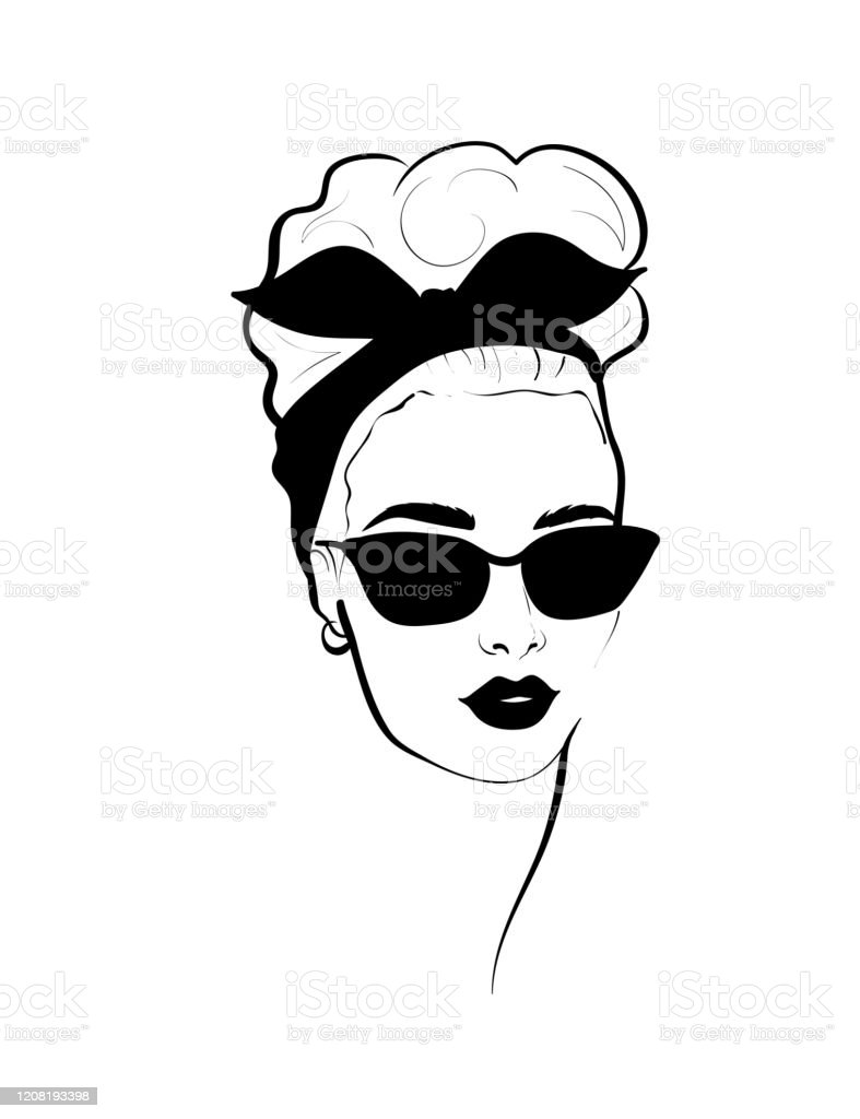 Fashion Monochrome Design Sketch Woman In Style Pop Art Stock Illustration Download Image Now Istock
