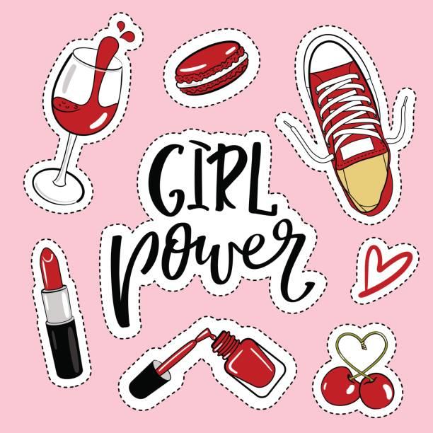 Best Girl Power Illustrations Royalty Free Vector