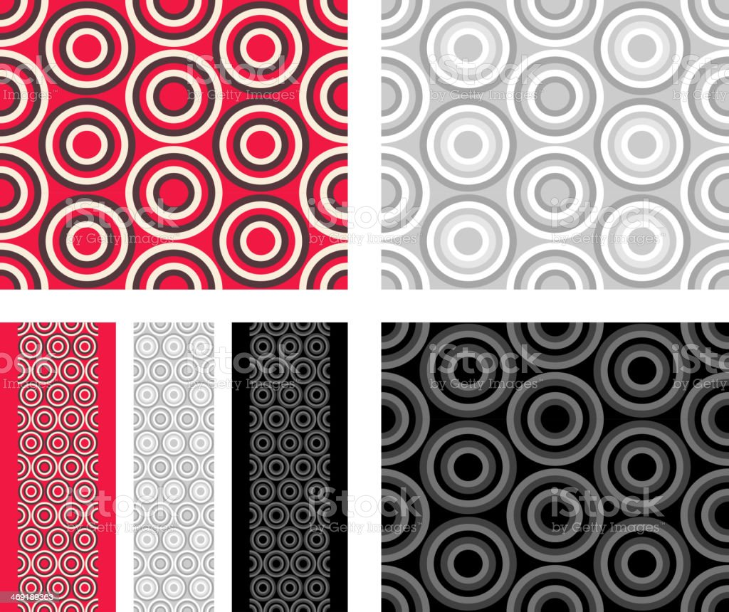 Fashion pattern with circles royalty-free stock vector art