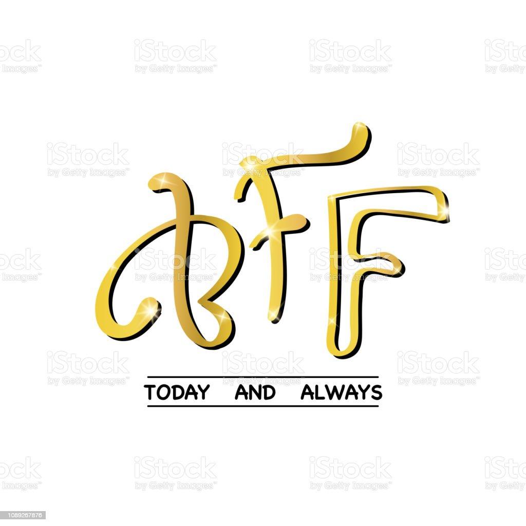 Fashion print BFF - best friends forever, vector art illustration
