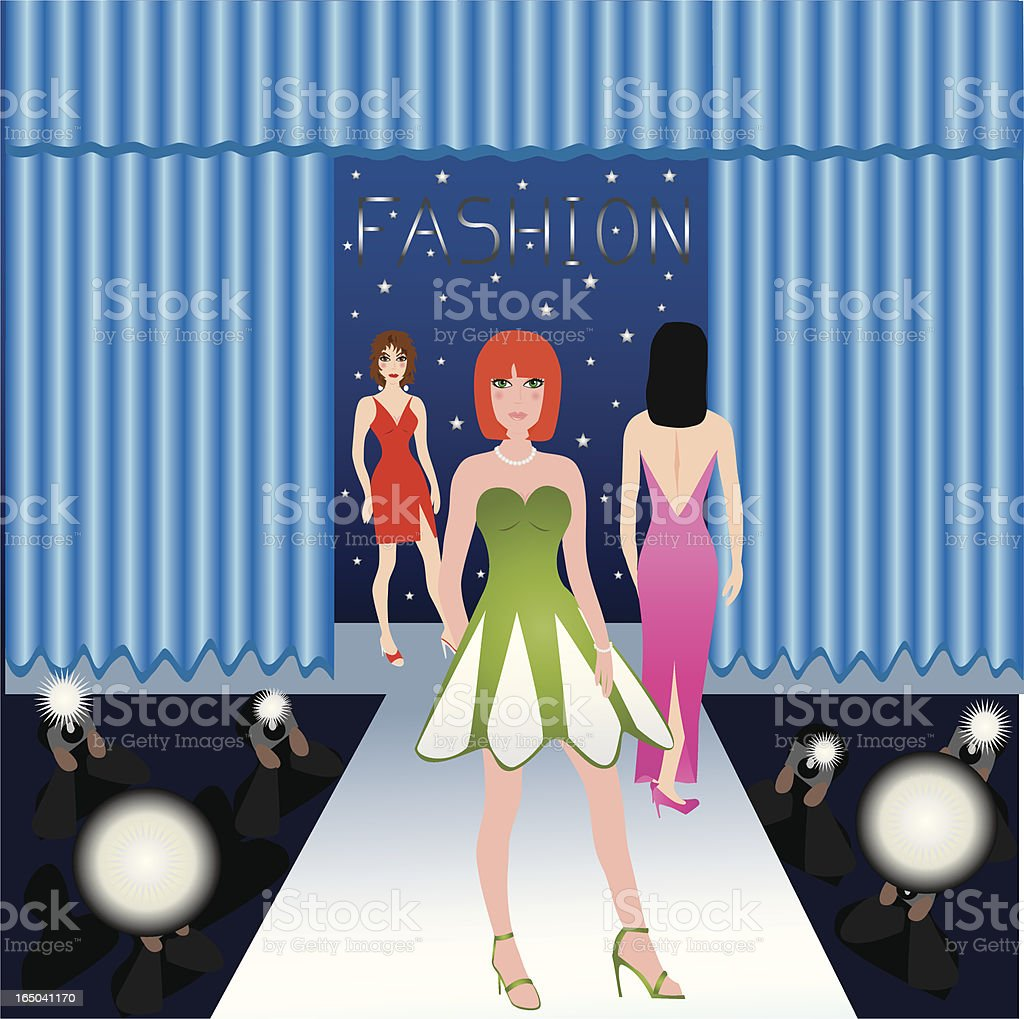 Fashion Runway vector art illustration