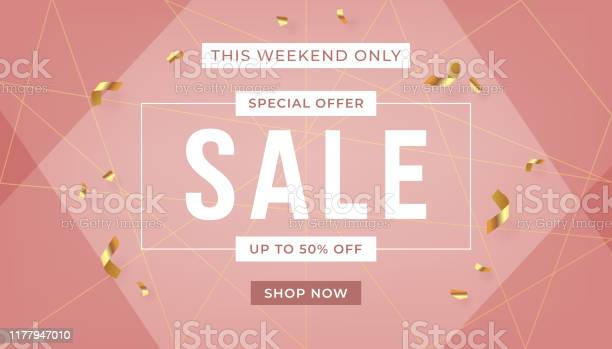 Fashion sale banner design background with gold ribbon promo offer vector id1177947010?b=1&k=6&m=1177947010&s=612x612&h=kkdazsxxuwa4uvlm2wr pcz lff75kmi rsm3dbeezw=