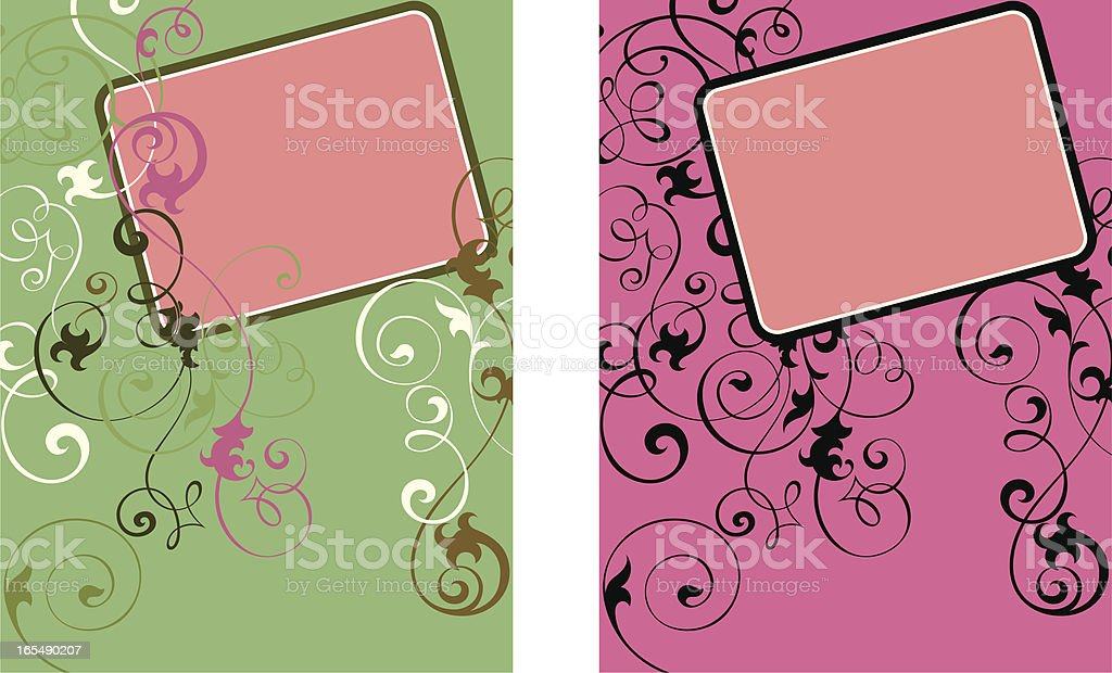 Fashion Scroll Panels vector art illustration