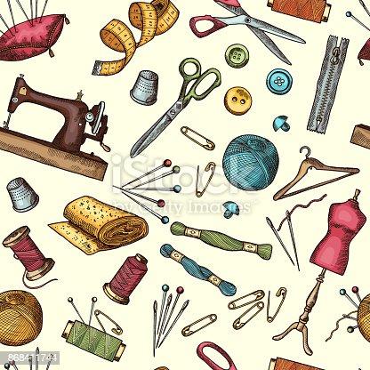 Nahtlose Muster Mode Mit Bildern Von Industriellen Werkzeugen Für ...