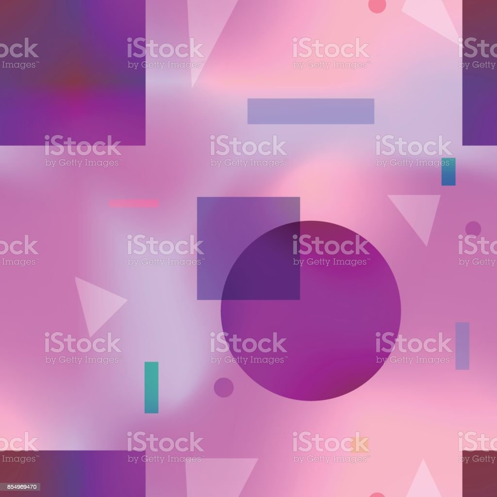 Fashion seamless pattern with purple color shapes vector art illustration