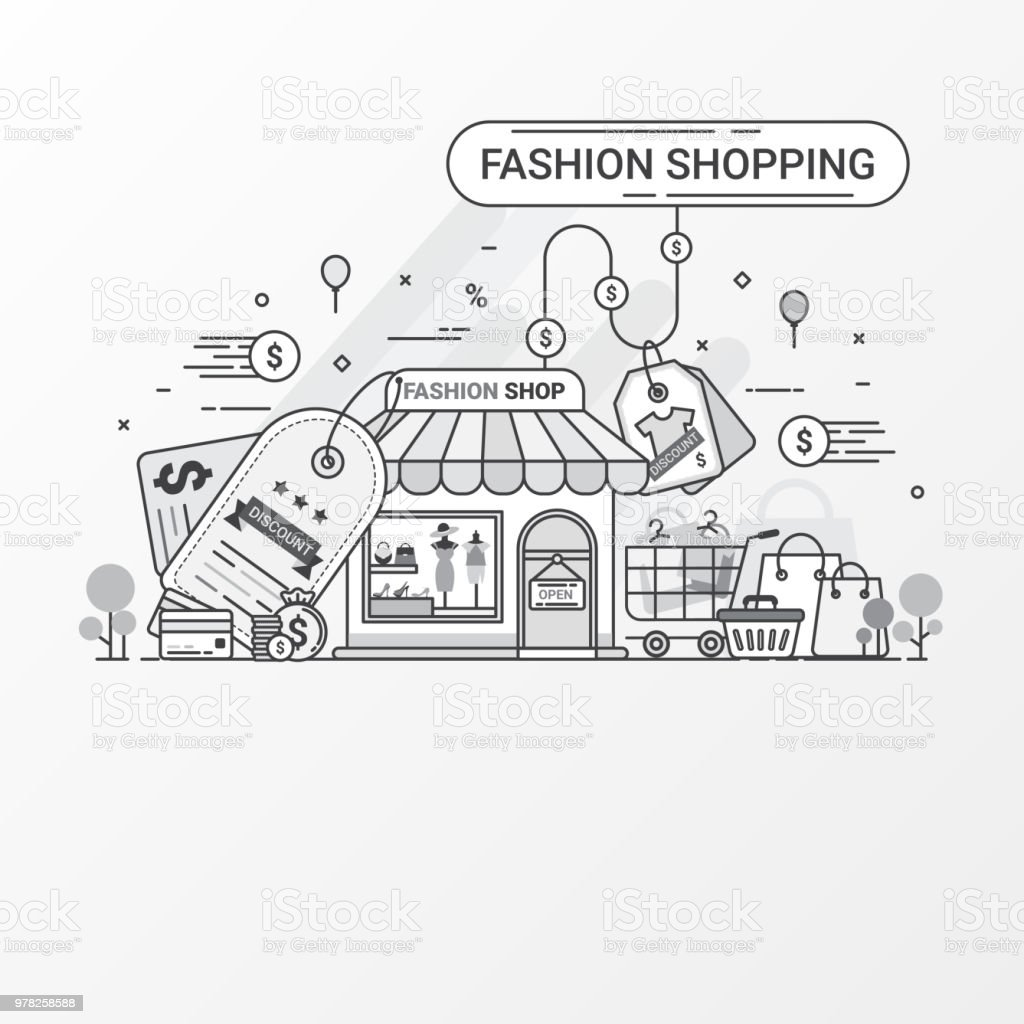 Fashion Shopping Concept This Set Contains Icon Elements Fashion