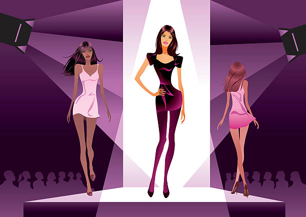 Best Fashion Show Runway Illustrations, Royalty-Free Vector