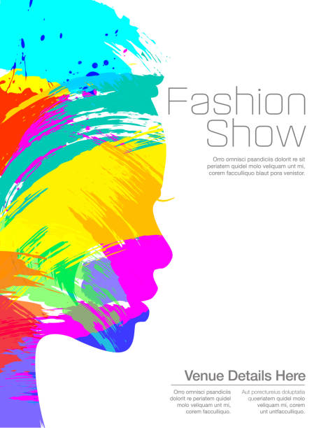 fashion show poster - couture stock-grafiken, -clipart, -cartoons und -symbole