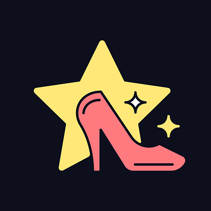 Fashion show RGB color icon for dark theme