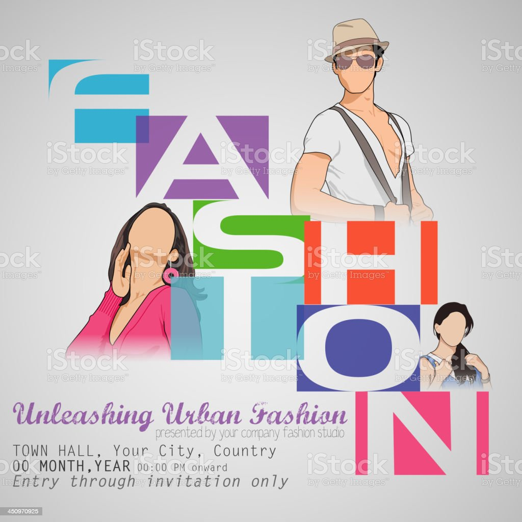 Fashion Show vector art illustration