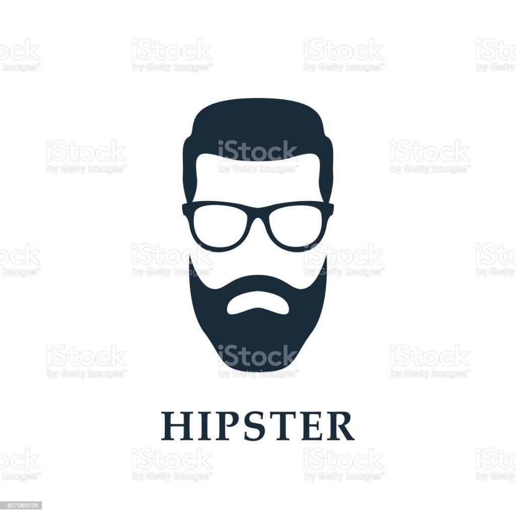 Fashion silhouette hipster. Hipster avatar. Vector illustration. vector art illustration
