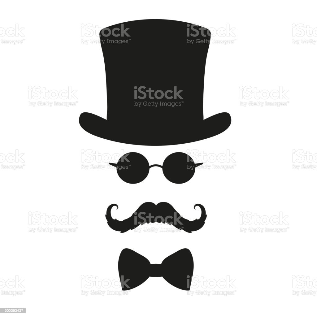 Fashion silhouette hipster style, vector illustration vector art illustration