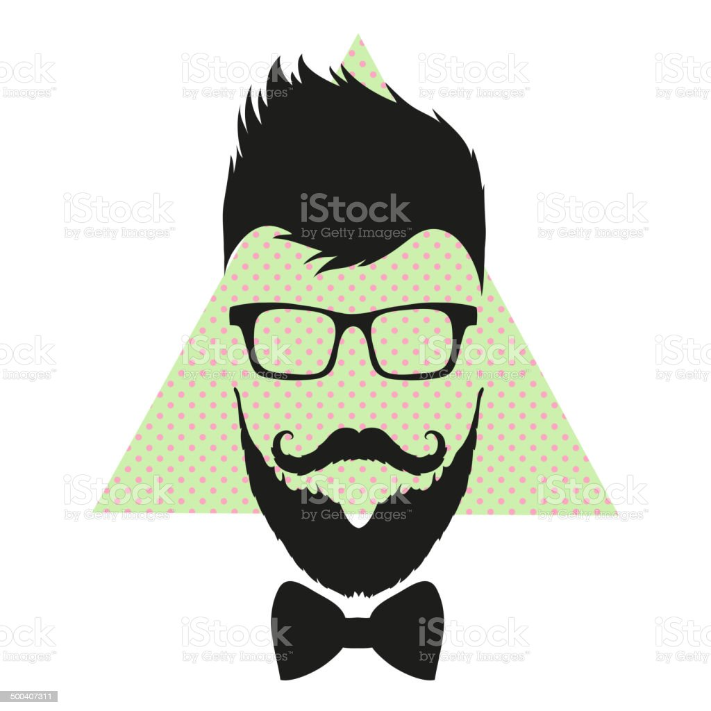 Fashion silhouette hipster style, vector illustration royalty-free stock vector art