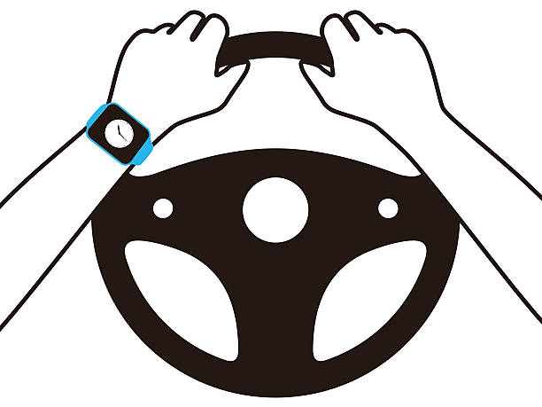 Royalty Free Hands On Steering Wheel Clip Art, Vector ...