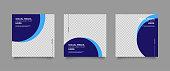 Modern promotion square web banner for social media mobile apps. Elegant sale and discount promo backgrounds for digital marketing