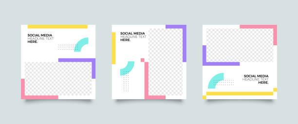 moda social media post szablon - instagram stock illustrations