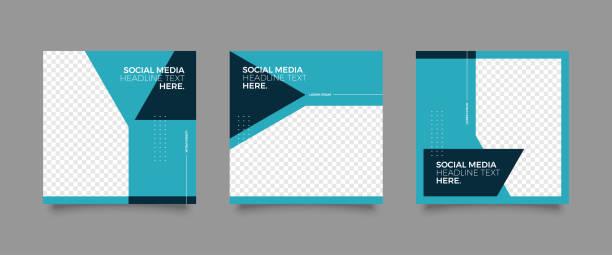 bildbanksillustrationer, clip art samt tecknat material och ikoner med mode sociala medier post mall - social media post template