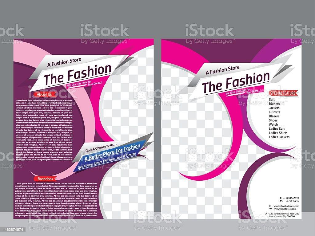Ilustración de Moda Tienda Flyer Plantilla Revista De Diseño y más ...