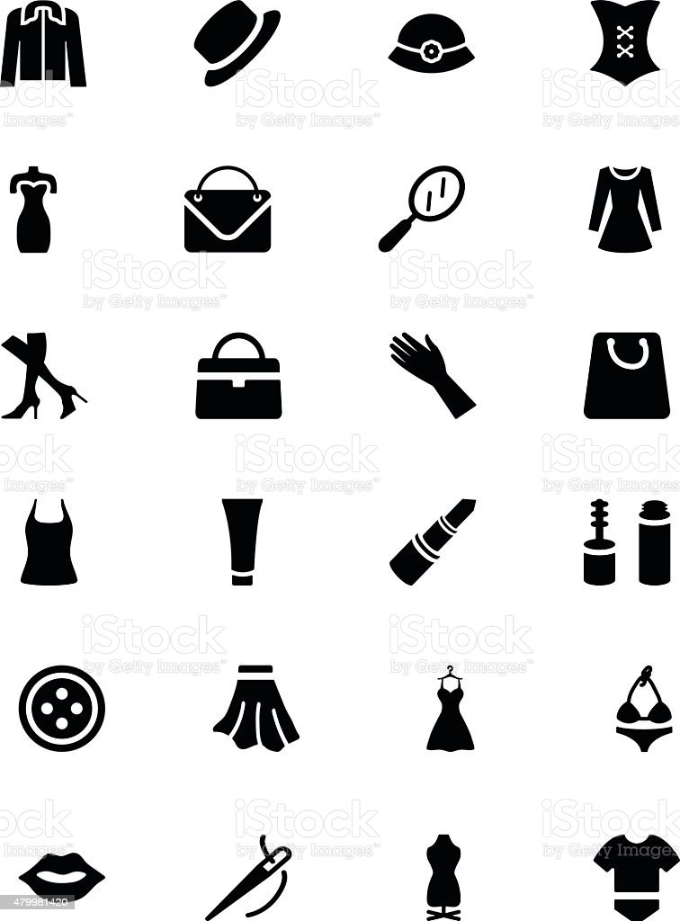 Fashion Vector Icons 1 vector art illustration