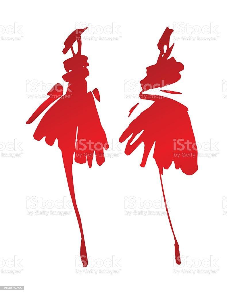 fashion waman shillouettes векторная иллюстрация