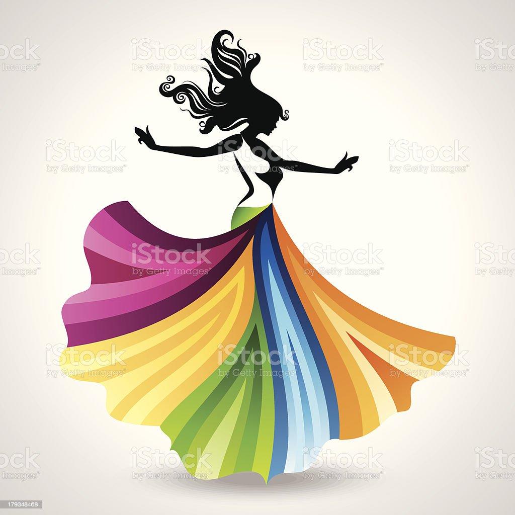 fashion woman illustration royalty-free stock vector art