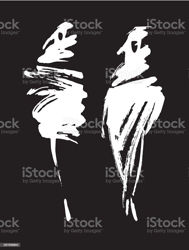 fashion woman shillouettes векторная иллюстрация