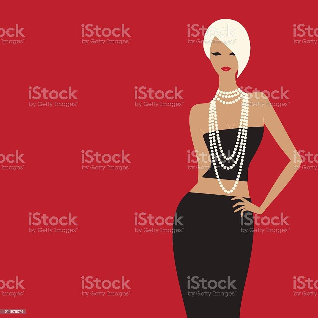 fashion woman. vector art illustration