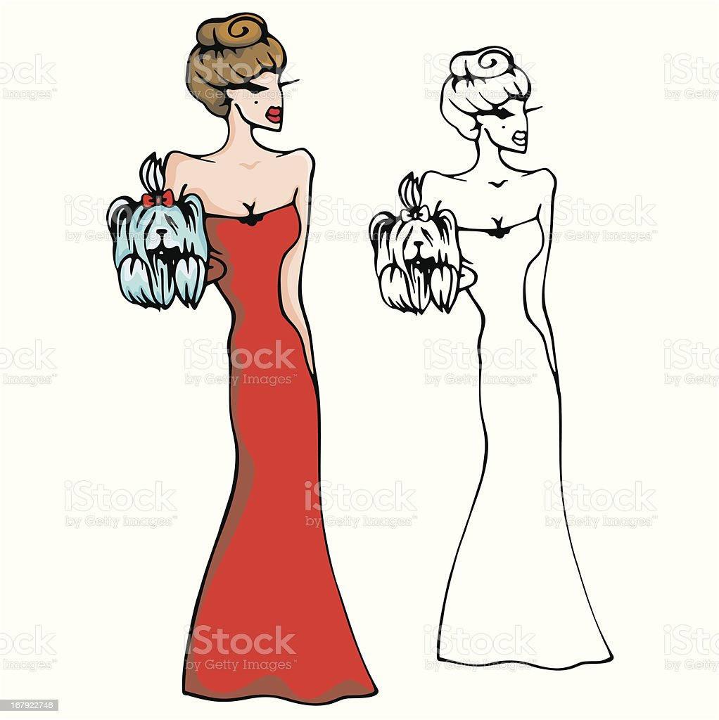 Fashion Woman Vector Illustration Series royalty-free stock vector art