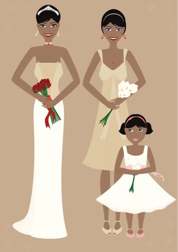 Fashionable Bride & Bridesmaids - incl. jpeg