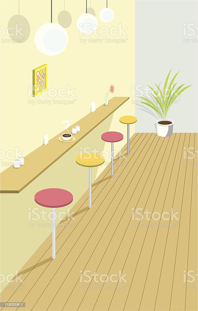 Fashionable cafe counter royalty-free stock vector art