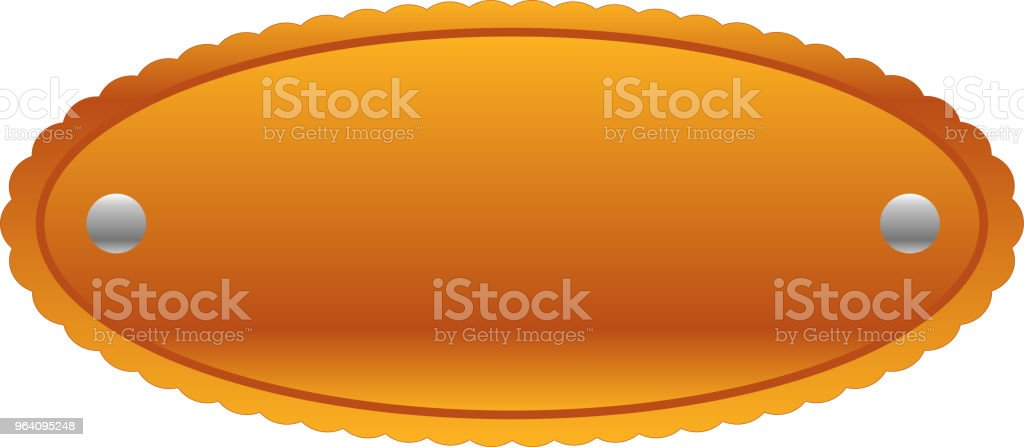 Fashionable Circle Copper metal plate - Royalty-free Anniversary stock vector