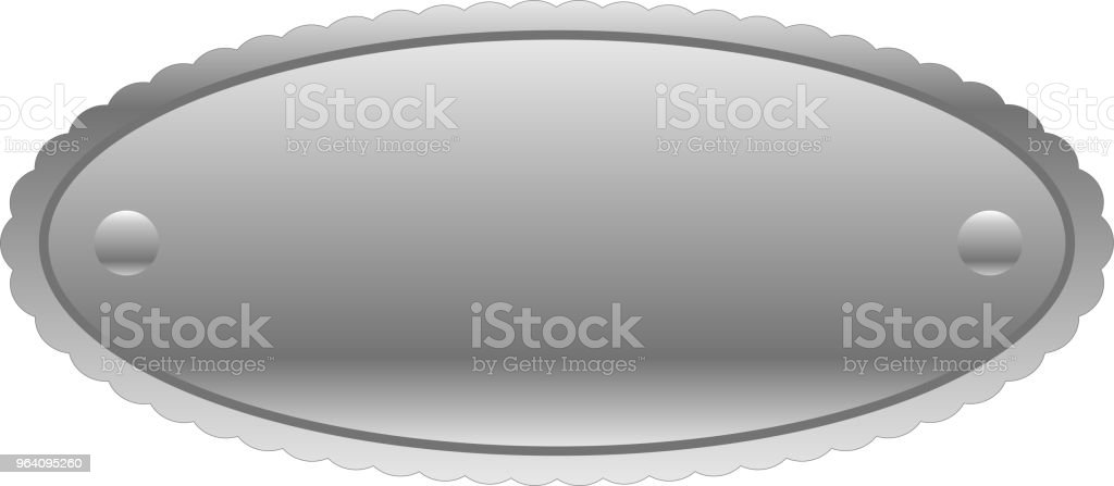 Fashionable Circle Silver metal plate - Royalty-free Anniversary stock vector