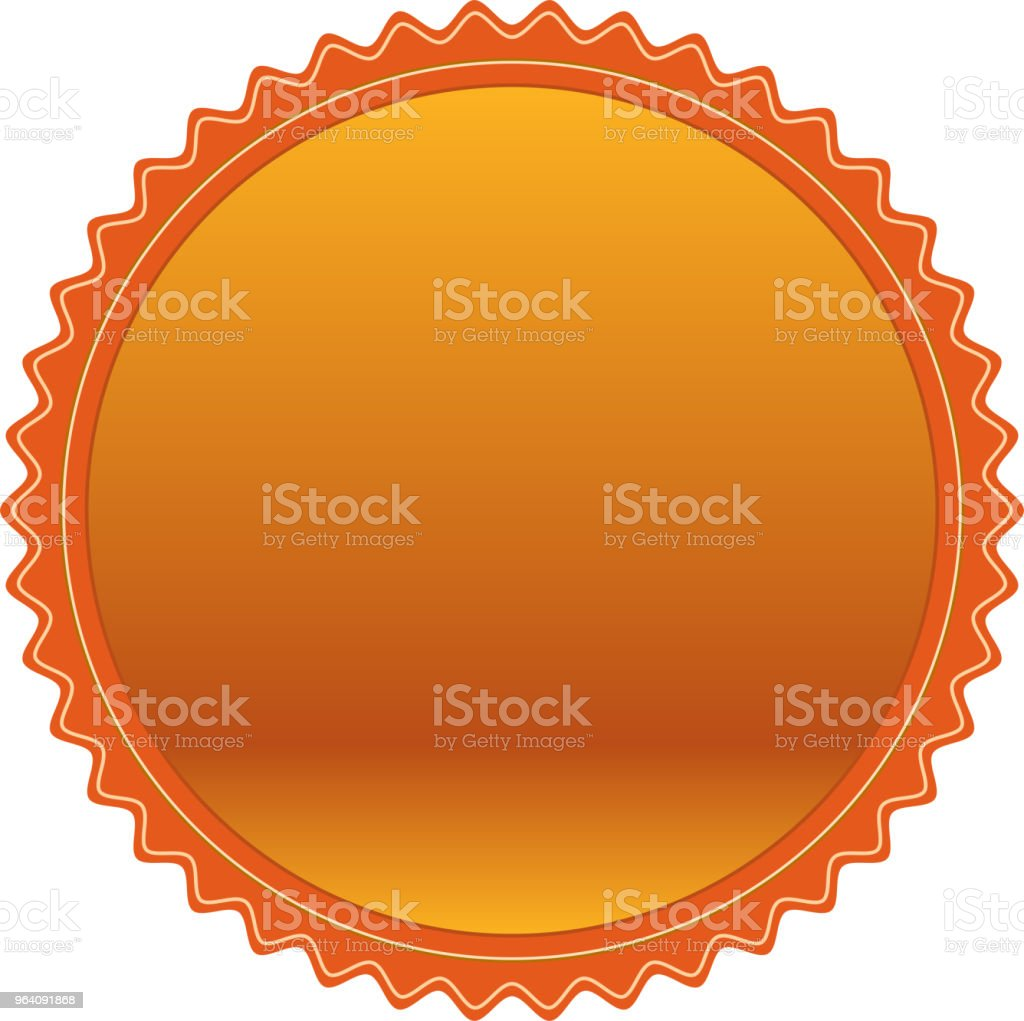 Fashionable Copper medal - Royalty-free Achievement stock vector