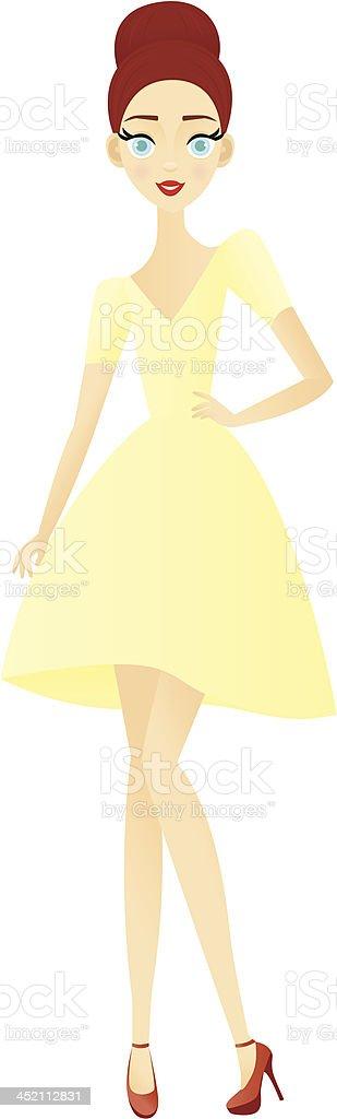 Fashionable Girl royalty-free stock vector art