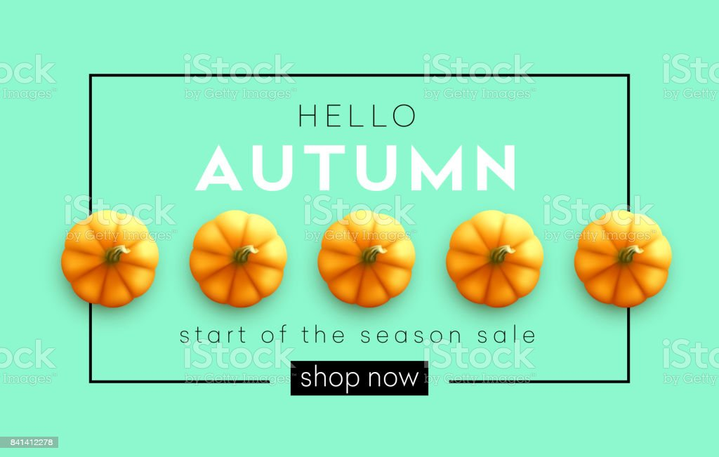 Fondo otoño modernos moda brillante otoño calabaza para diseño de carteles, flyers, banners.  Ilustración de vector - ilustración de arte vectorial