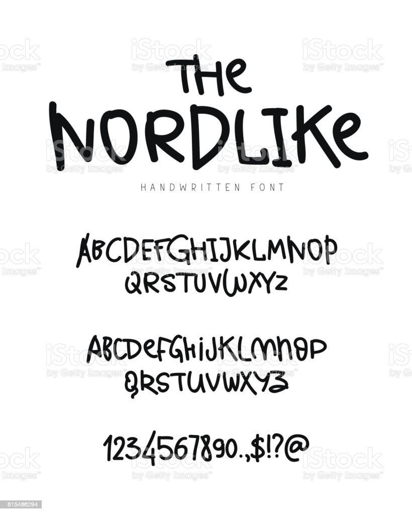Modische moderne Vektorschrift auf weißem Hintergrund – Vektorgrafik
