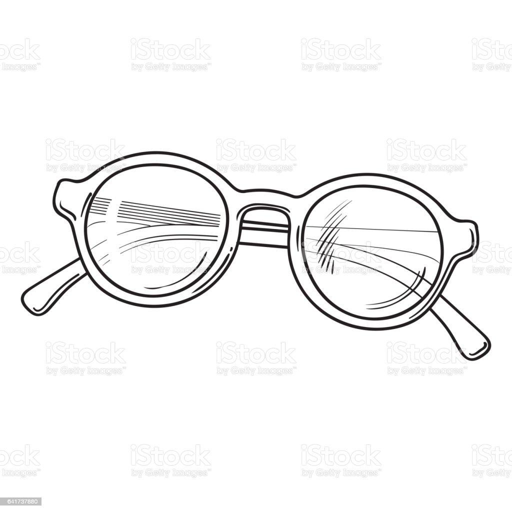 Modische Runde Sonnenbrille Im Kunststoffrahmen Sommerurlaubattribut ...